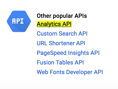 Google Analytics - Add API