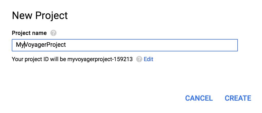 Google Analytics - Create Project