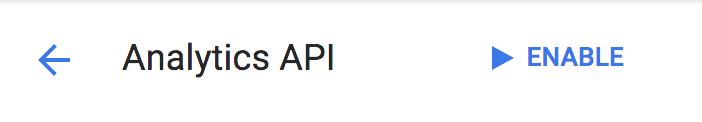 Google Analytics - Enable API
